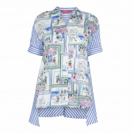MARINA RINALDI PRINTED SHIRT 100% COTTON - Plus Size Collection
