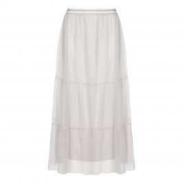 MARINA RINALDI ECRU TIERED MAXI SKIRT - Plus Size Collection