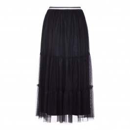 MARINA RINALDI BLACK TIERED MAXI SKIRT - Plus Size Collection