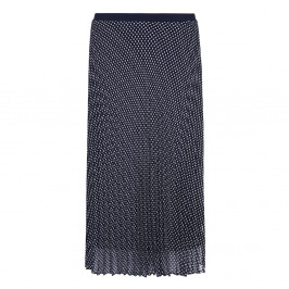 Marina Rinaldi navy pleated print SKIRT - Plus Size Collection
