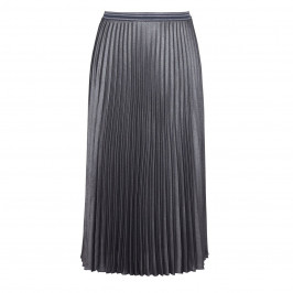 MARINA RINALDI SILVER PLEATED MAXI SKIRT
