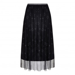 MARINA RINALDI GLITTER STAR PRINT SKIRT - Plus Size Collection