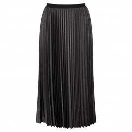 MARINA RINALDI METALLIC PLEATED MAXI SKIRT - Plus Size Collection