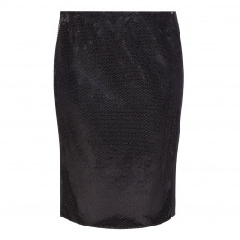 MARINA RINALDI SEQUIN EMBELLISHED BLACK SKIRT - Plus Size Collection