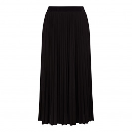 MARINA RINALDI SUNRAY PLEAT MIDI SKIRT BLACK - Plus Size Collection