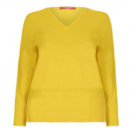 Marina Rinaldi yellow textured hem SWEATER - Plus Size Collection