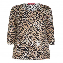 MARINA RINALDI ROUND NECK ANIMAL PRINT SWEATER - Plus Size Collection