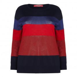 Marina Rinaldi Navy Sport Sweater - Plus Size Collection