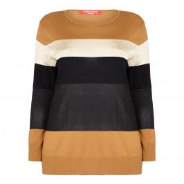 Marina Rinaldi Striped Sport Sweater  - Plus Size Collection