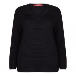 Marina Rinaldi Ribbed Sport Sweater - Plus Size Collection