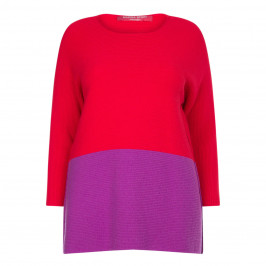 MARINA RINALDI TWO TONE SWEATER  - Plus Size Collection