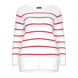 PERSONA BY MARINA RINALDI PURE COTTON stripe SWEATER with split sides - Plus Size Collection