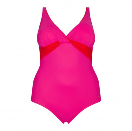 Marina Rinaldi colour contrast cross-bust SWIMsuit - Plus Size Collection