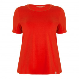 Marina Rinaldi red jersey T-SHIRT - Plus Size Collection