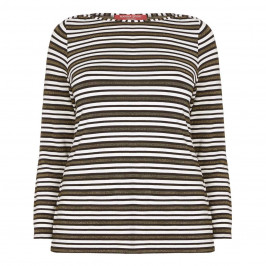 Marina Rinaldi Striped Jersey Sport Top  - Plus Size Collection