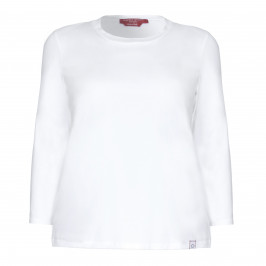 Marina Rinaldi white jersey long sleeve TOP - Plus Size Collection
