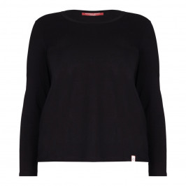 Marina Rinaldi black jersey long sleeve TOP - Plus Size Collection
