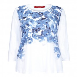 Marina Rinaldi china blue rose print top - Plus Size Collection