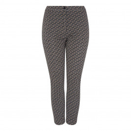 Marina Rinaldi PRINT BLACK JACQUARD TROUSERS - Plus Size Collection