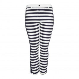 MARINA RINALDI HORIZONTAL STRIPE FRONT TROUSERS - Plus Size Collection