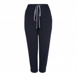 MARINA RINALDI PINSTRIPE PULL ON TROUSER - Plus Size Collection