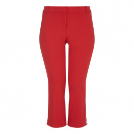 Marina Rinaldi red flared ankle grazer TROUSERS - Plus Size Collection