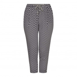Marina Rinaldi ethnic print pull-on TROUSERS