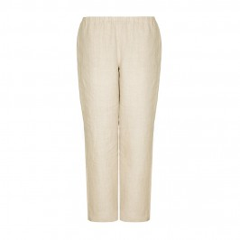 MARINA RINALDI sand linen TROUSERS - Plus Size Collection