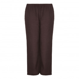 MARINA RINALDI chocolate linen TROUSERS - Plus Size Collection