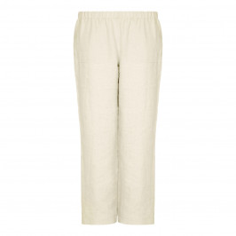 Marina Rinaldi stone pure linen TROUSERS - Plus Size Collection