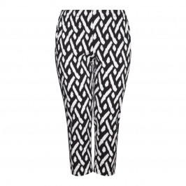 Marina Rinaldi black cotton stretch TROUSERS - Plus Size Collection