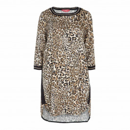 MARINA RINALDI ANIMAL PRINT DRESS
