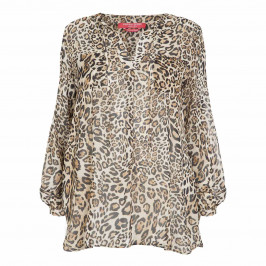 MARINA RINALDI ANIMAL PRINT CHIFFON TUNIC  - Plus Size Collection