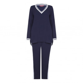 Marina Rinaldi navy leisure TUNIC + TROUSER - Plus Size Collection