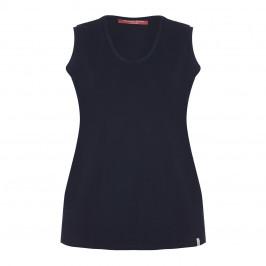 Marina Rinaldi navy cotton VEST - Plus Size Collection