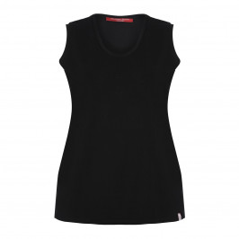 Marina Rinaldi black cotton VEST - Plus Size Collection