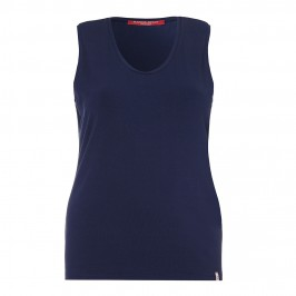MARINA RINALDI navy cotton jersey VEST - Plus Size Collection