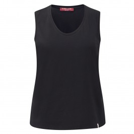 MARINA RINALDI BLACK cotton jersey VEST - Plus Size Collection
