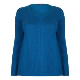 Marina Rinaldi blue silk and cotton blend sweater - Plus Size Collection