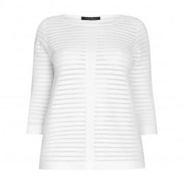 Marina Rinaldi PURE COTTON LACE STITCH SWEATER - Plus Size Collection