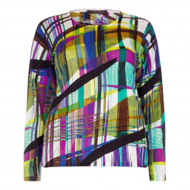 MARINA RINALDI MULTI PRINT LONG SLEEVED SWEATER
