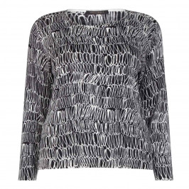 Marina Rinaldi light weight wool print sweater - Plus Size Collection