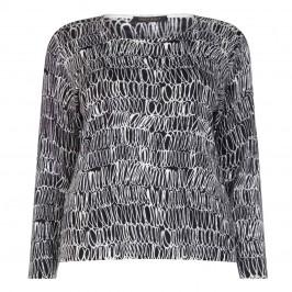 Marina Rinaldi light weight wool print sweater - Plus Size Collection