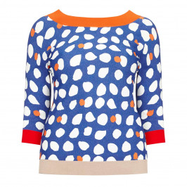 MARINA RINALDI PRINTED SWEATER - Plus Size Collection