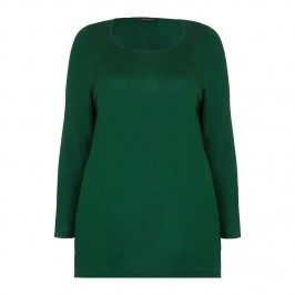 MARINA RINALDI forest green silk & cashmere SWEATER - Plus Size Collection