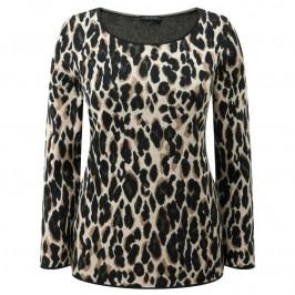 Marina Rinaldi animal print jacquard sweater - Plus Size Collection