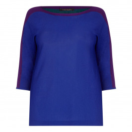 MARINA RINALDI LIGHT WEIGHT COLOUR BLOCK SWEATER