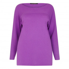Marina Rinaldi textured rib detail wisteria sweater - Plus Size Collection