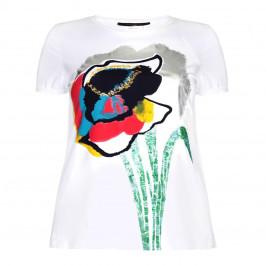 Marina Rinaldi embellished floral print top