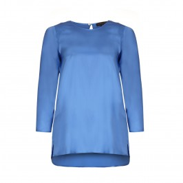 MARINA RINALDI BLUE SILK TOP